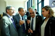 Visite du ministre des finance M. BENKHALFA Abderrahmane à l'université de Bejaia.