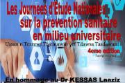 4ème édition, des Journées d'Etude Nationales, sur la Prévention Sanitaire, en Milieu Universitaire