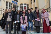 Visite pédagogique des élèves du lycée privé les colombes à l'université Abderrahmane Mira. Béjaia