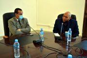 De gauche à droite: Le Pr BOUDA Ahmed, recteur de l'université de Bejaia, Pr BOUKERROUI Abdelhamid, Ex doyen de la faculté des sciences exactes.