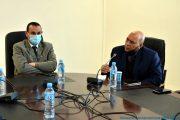 de gauche à droite, Le Pr BOUDA Ahmed, recteur de l'université de Bejaia, et Pr BOUKERROUI Abdelhamid, Ex doyen de la faculté des sciences exactes