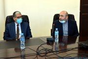 de gauche à droite: M. BOUKERROU Mouloud, SG de l'université de Bejaia , Pr AOUDIA Sofiane, doyen de la faculté des sciences exactes de l'université de Bejaia