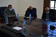 de gauche à droite: Le Pr BOUDA Ahmed, recteur de l'université de Bejaia, Pr BOUKERROUI Abdelhamid, Ex doyen de la faculté des sciences exactes et le Pr Sadeddine Abdelhamid, vice recteur du développement, de la prospective et de l'orientation