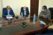 Pr AOUDIA Sofiane, doyen de la faculté des sciences exactes, en compagnie du BOUKERROU Mouloud, SG de l'université de Bejaia et le Pr BOUDA Ahmed, recteur de l'université de Bejaia