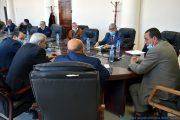 Installation du Professeur AOUDIA Sofiane nouveau Doyen de la Faculté des Sciences Exactes en remplacement du Professeur BOUKERROUI Abdelhamid, au niveau de la salle des réunions du rectorat, étaient présents le recteur, les vices recteur, les différents doyens des facultés et le SG de l'université . Date: le 11 février 2021